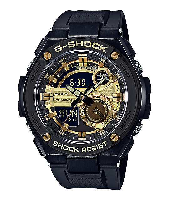 G-Shock GST210B-1A9 G-Steel Black & Gold Watch