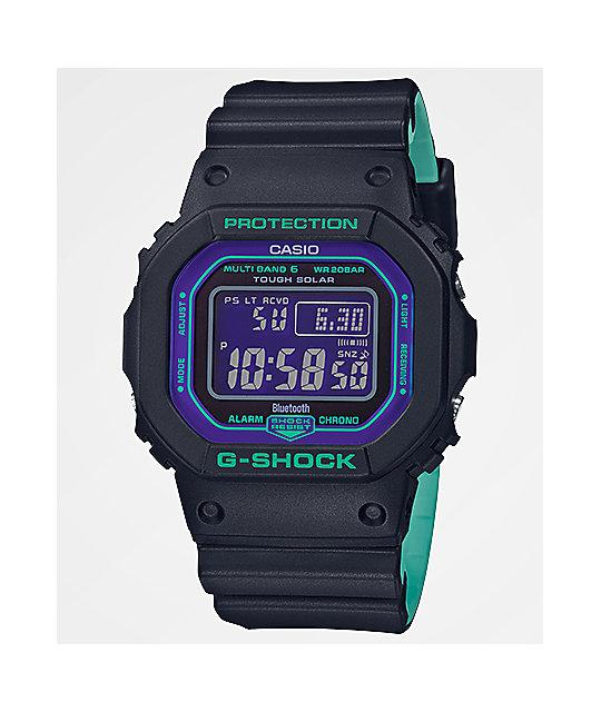 claro y distintivo fábrica a juego en color G-Shock GWB5600 Retro Sport reloj digital negro