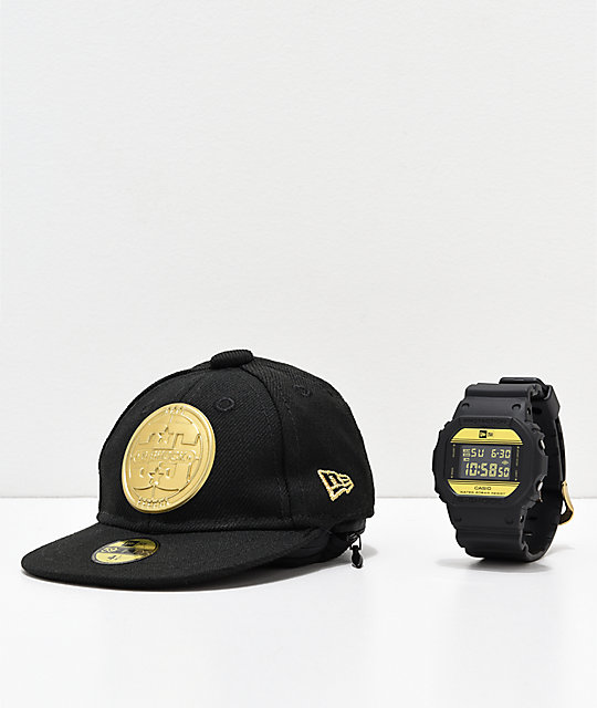 G-Shock x New ERA DW5600 Black & Gold Digital Watch