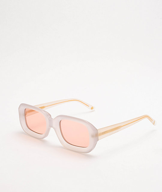 GLVSS The Crush gafas de sol blancas transparentes