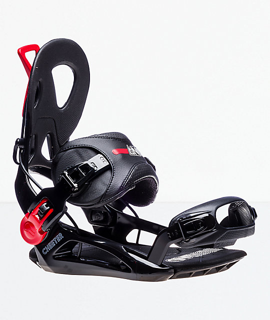 GNU Cheeter Black Snowboard Bindings 2019