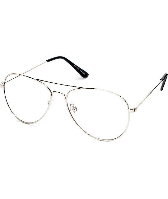 fe06838ddd Gafas aviator con lentes transparentes ...