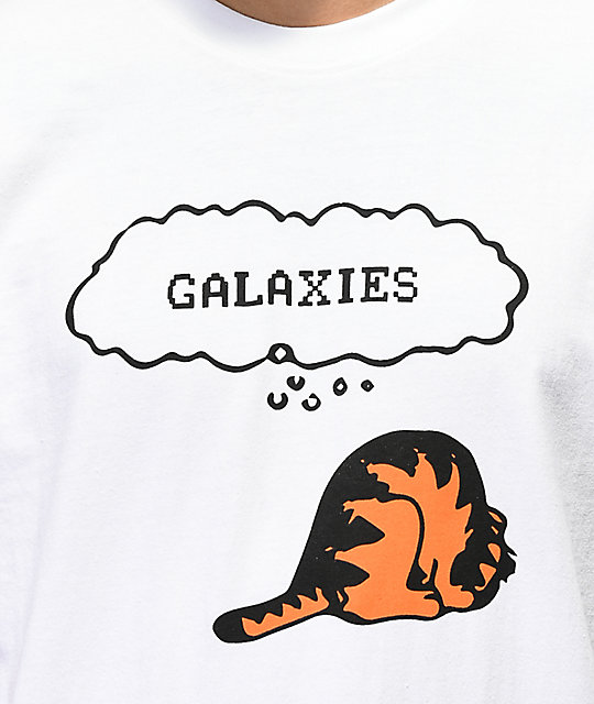 Galaxies Cat Things White T-Shirt
