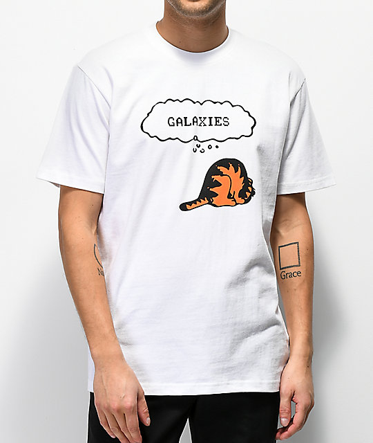 Galaxies Cat Things camiseta blanca