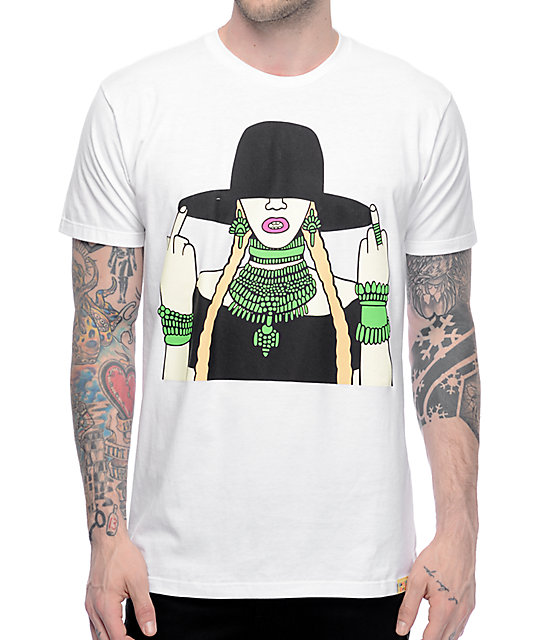 Gangster Doodles Lemonade camiseta blanca