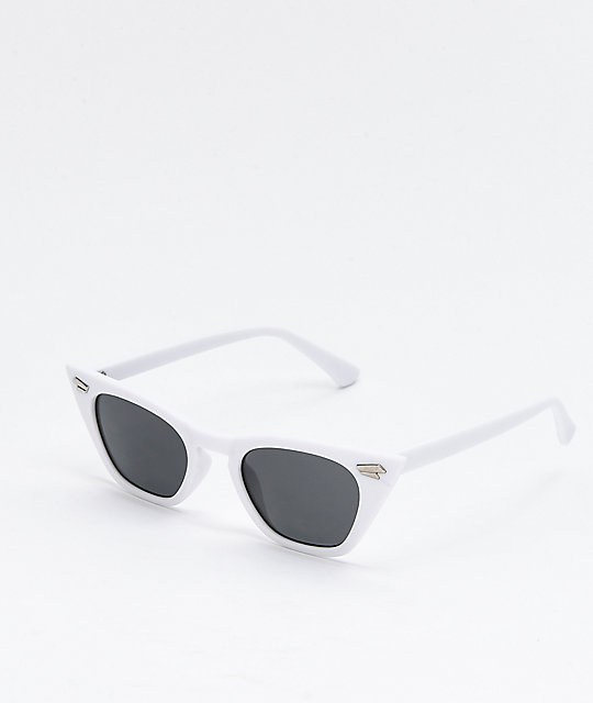 Georgetown Cateye White Sunglasses