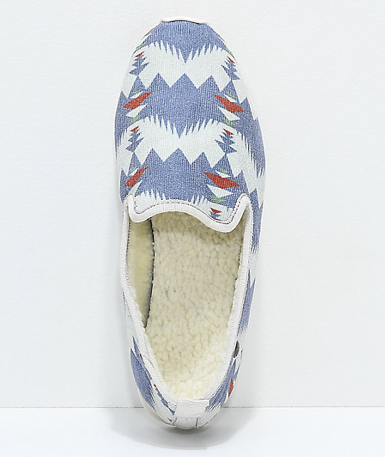 Gigi All Nighter Lodge Tribal Print Slippers