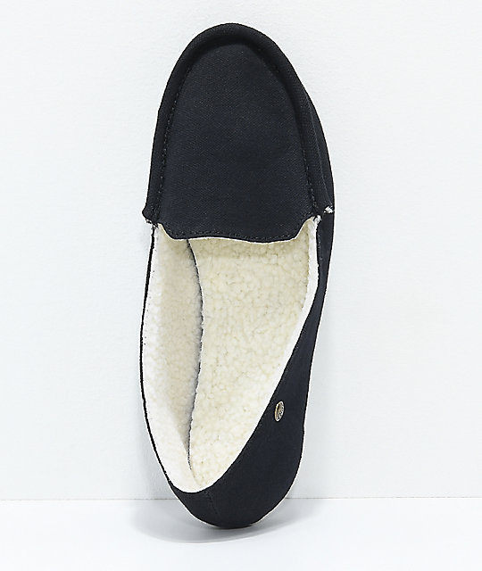 Gigi Apres Black Slippers