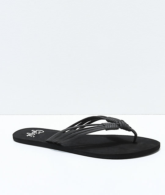 9cf97335632fb4 Gigi Boardwalk Black Thong Sandals