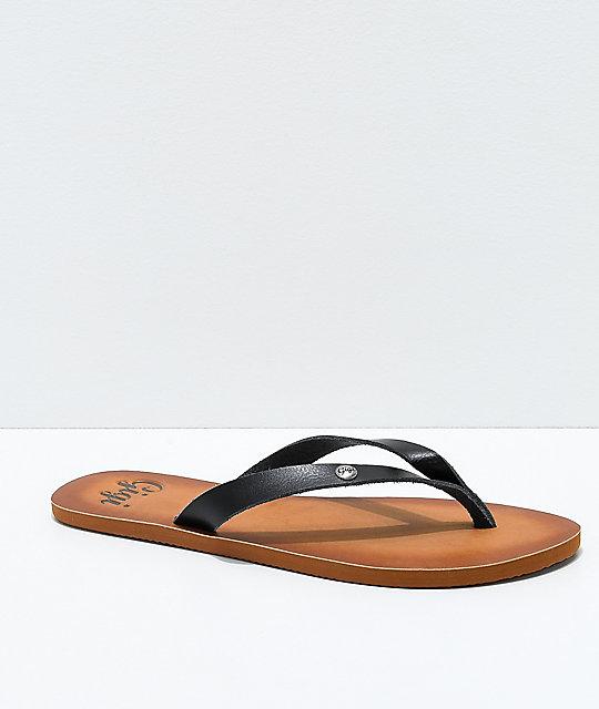 0b60d4427d57 Gigi Breeze Black Thong Sandals