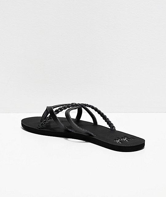 4c006892e0c Gigi Star Strappy All Black Sandals