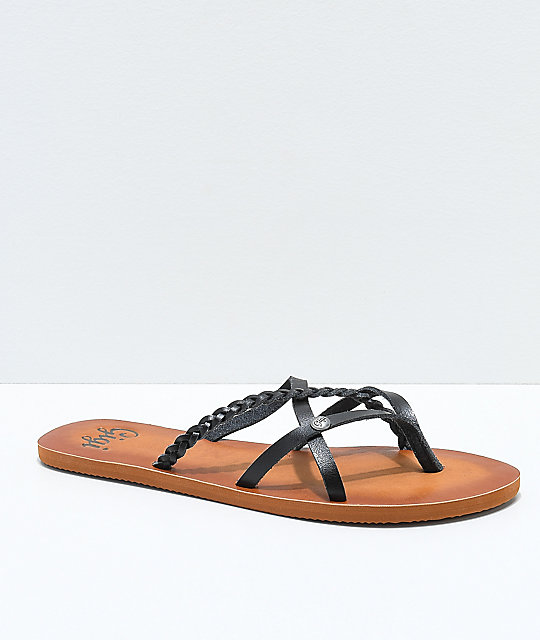 Gigi Star Strappy Black Sandals