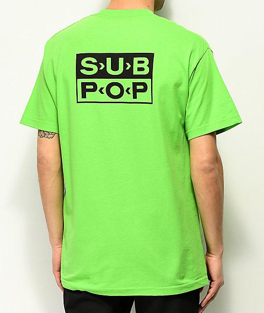Girl x Sub Pop Logo Lime Green T-Shirt  2a6f1a0ef1c7