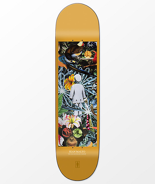 "Girl Malto Jungle 7.75"" Skateboard Deck"