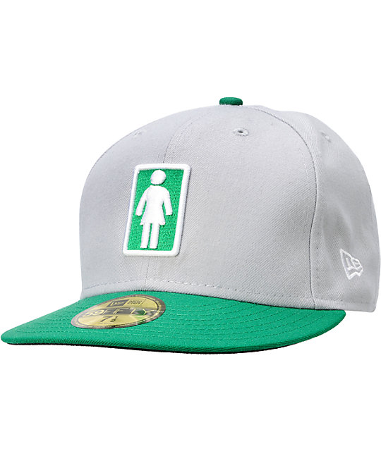 Girl OG Girl Grey   Green New Era Fitted Hat  02d45dc0e11