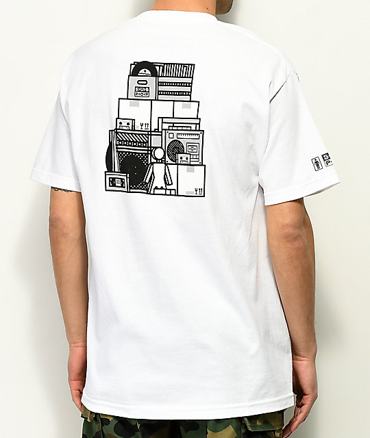 Girl X Sub Pop Stacked White T-Shirt