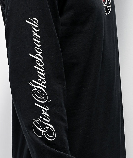 Girl x Diamond Supply Co. Script Black Long Sleeve T-Shirt