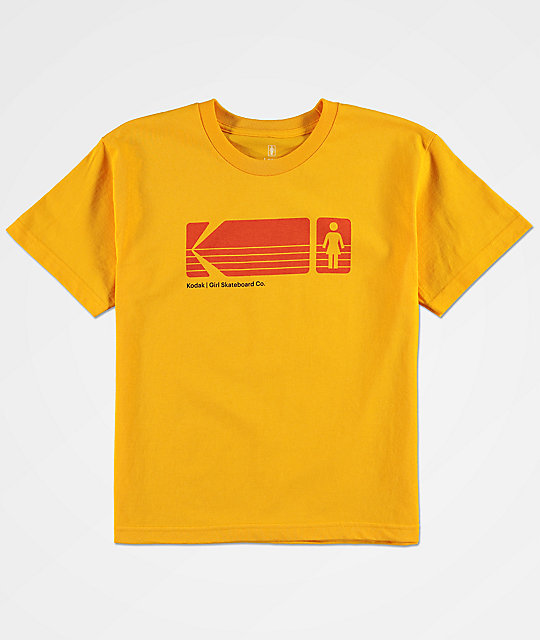 Girl x Kodak Boys Yellow T-Shirt