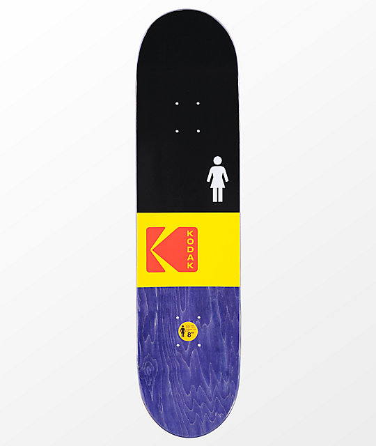 "Girl x Kodak McCrank 8.0"" Skateboard Deck"