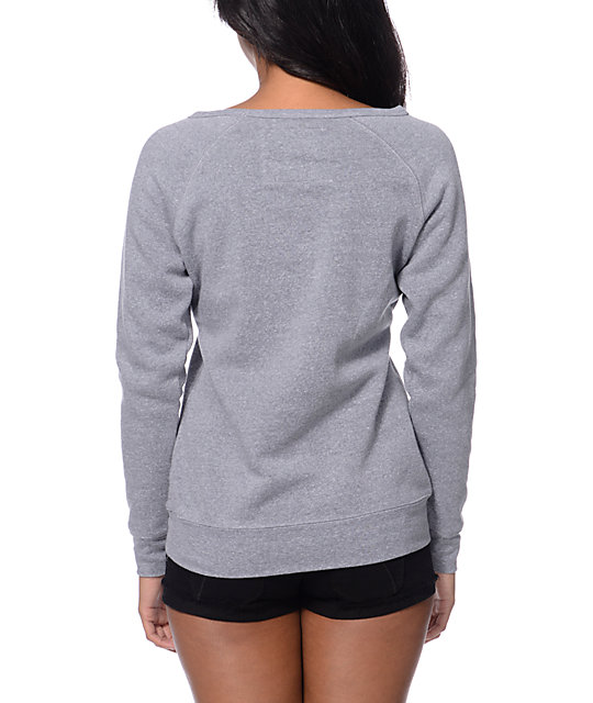 Glamour Kills Anchor Down Grey Crew Neck Sweatshirt