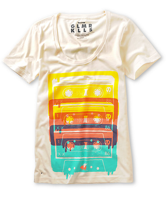 Glamour Kills Boombox Generation Natural White T-Shirt