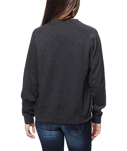 Glamour Kills Buzzs Girlfriends Charcoal Crew Neck Sweatshirt