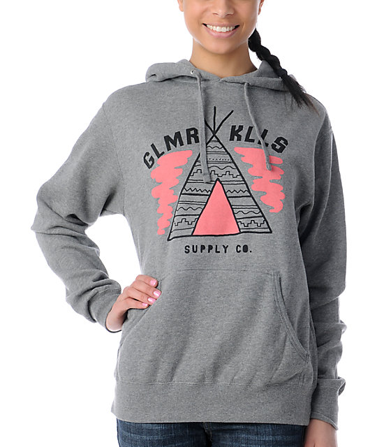 Glamour Kills Camp Supply Grey Pullover Hoodie