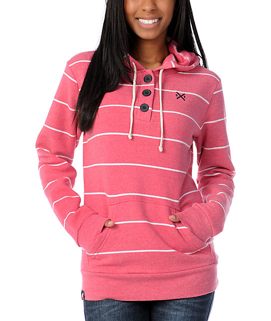 Glamour Kills Chattered Rhythms Henley Hoodie