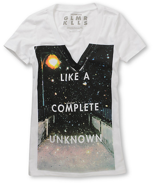Glamour Kills Complete Unknown V-Neck Graphic T-Shirt