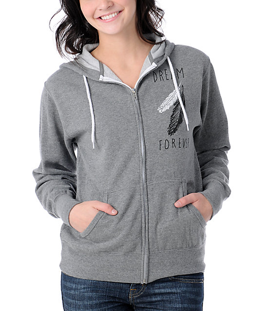 Glamour Kills Dream Forever Grey Zip Up Hoodie