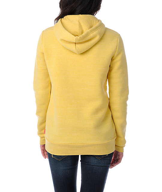 Glamour Kills Dream On Dreamer Skyline Yellow Pullover Hoodie
