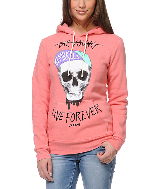 Glamour Kills Eternal Youth Coral Pullover Hoodie