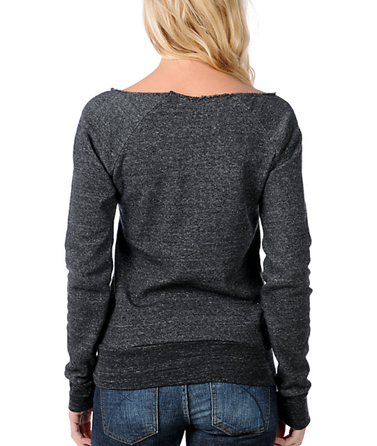 Glamour Kills GKNY Heather Charcoal Pullover Sweatshirt