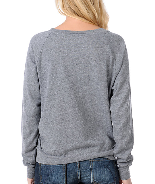 Glamour Kills Galaxy Anchor Grey Raglan Top