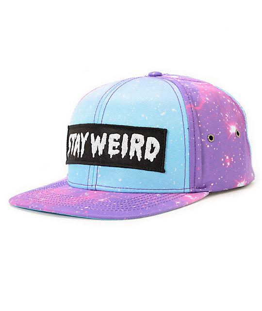 Glamour Kills Galaxy Blue   Pink Strapback Hat  d803a131560