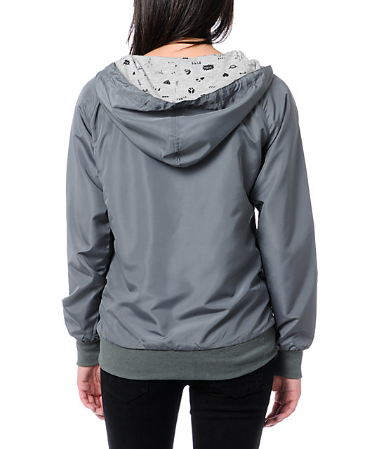 Glamour Kills Grey Windbreaker Jacket