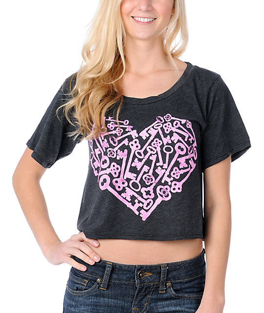 Glamour Kills Heartkey Slouchy Crop Top