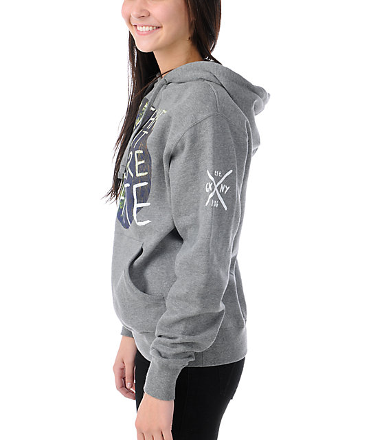 Glamour Kills In The Moment Grey Pullover Hoodie