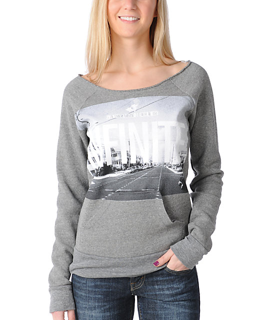 Glamour Kills Infinite Possibility Grey Pullover Sweatshirt