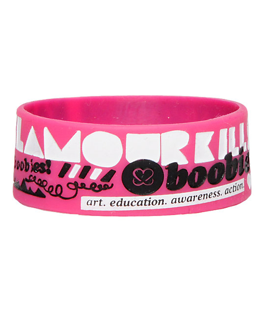 Glamour Kills Keep A Breast I Love Boobies Pink Bracelet