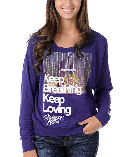 Glamour Kills Keep Breathing Navy Knit