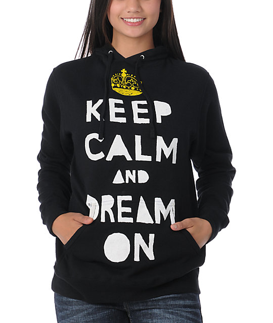 Glamour Kills Keep Calm Black Pullover Hoodie