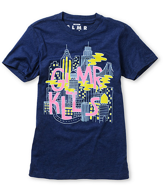 Glamour Kills Night On The Town Navy Crew Neck T-Shirt
