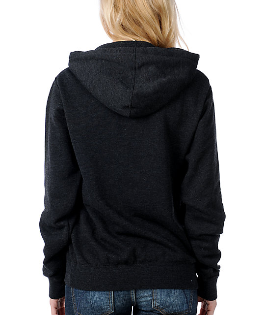 Glamour Kills No Regrets Charcoal Pullover Hoodie