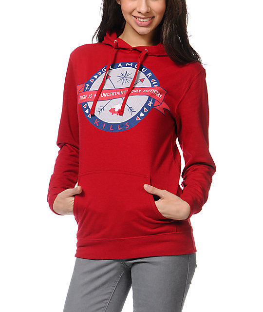 Glamour Kills Only Adventure Red Pullover Hoodie