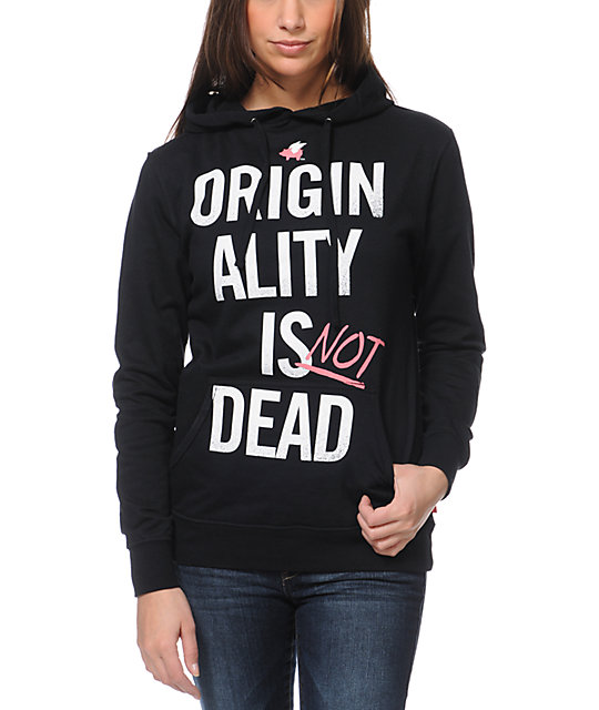 Glamour Kills Originality Is Not Dead Black Pullover Hoodie