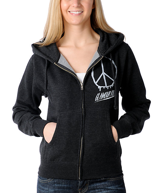 Glamour Kills People For Peace Zip Up Hoodie