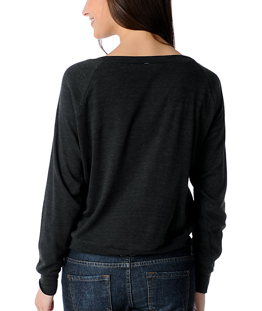 Glamour Kills Revolutionize Charcoal Raglan Top
