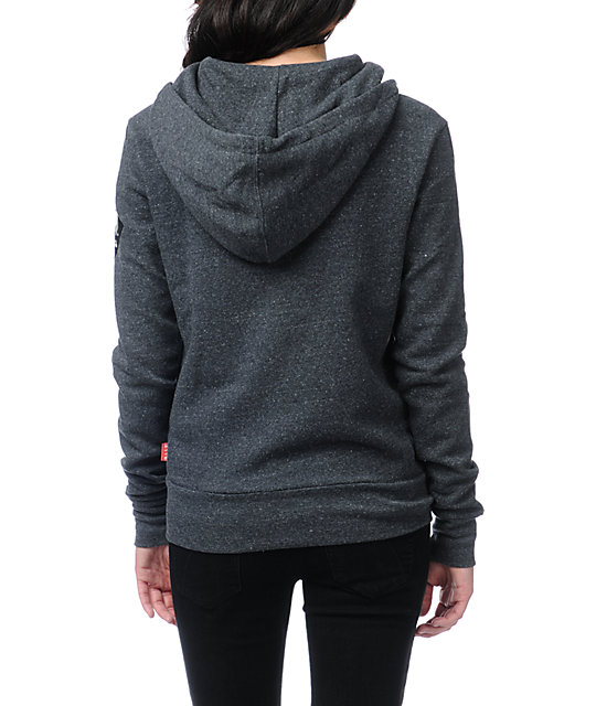 Glamour Kills Take To The Streets Charcoal Grey Hoodie