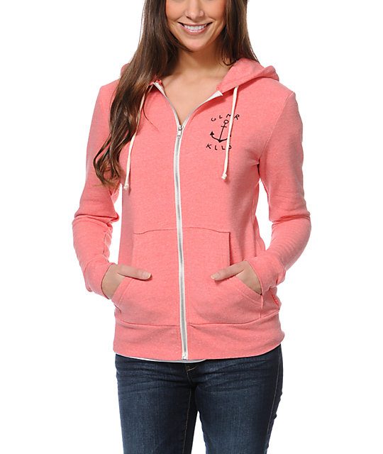 Glamour Kills The Union Coral Zip Up Hoodie